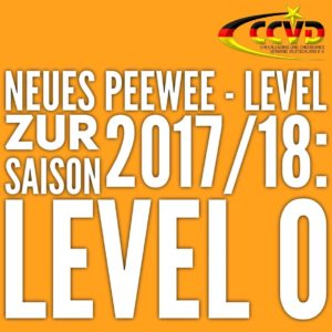 Neues PeeWee Level zur Saison 2017/18