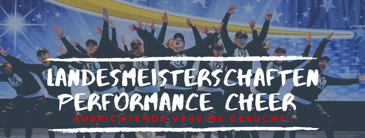 Performance Cheer Wettkämpfe Saison 2019/20 – Vorabinformation