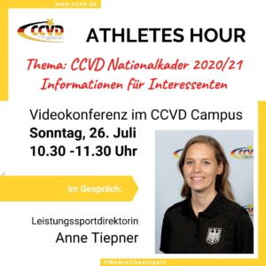 CCVD Athletes Hour zur Team Germany Saison 2020/21