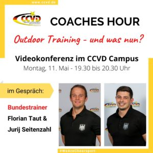 "CCVD Coaches Hour – Thema ""Outdoor-Training"""