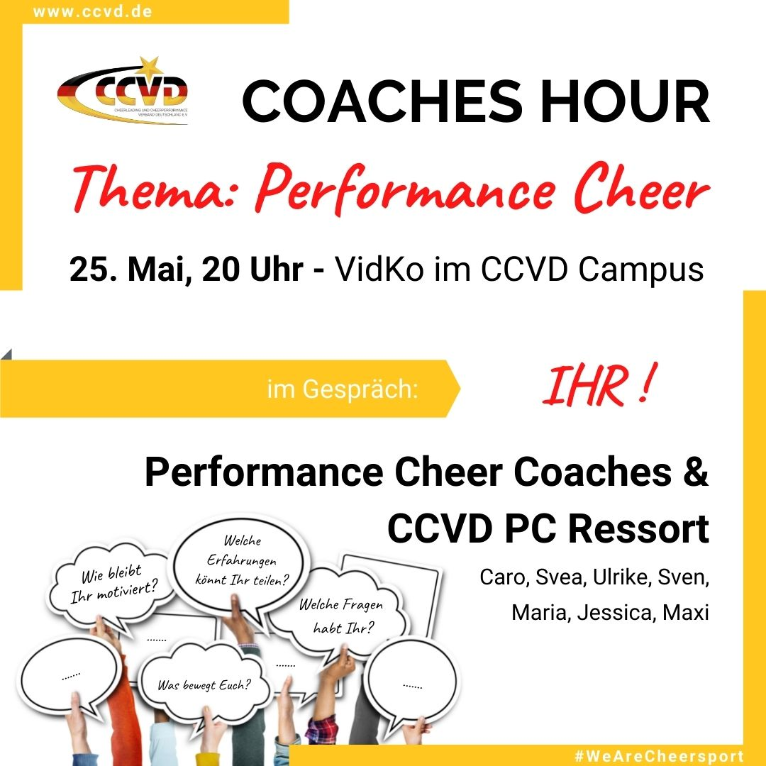 Coaches Hour Performance Cheer